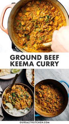Curry Recipes, Vegetarian Recipes, Healthy Recipes, Healthy Minced Beef Recipes, Beef Mince Recipes, Spicy Food Recipes, Haitian Food Recipes, Indian Food Recipes, Dairy Free Indian Food