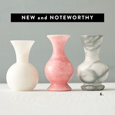 small alabaster bud vases / sfgirlbybay