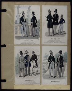 Mode. [XIXe siècle]. 1839 Paletot, pantalon taille plissée