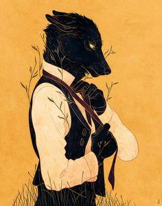 Dapper wolf (alternate title: David) Kind of look like Sebastian Castellanos