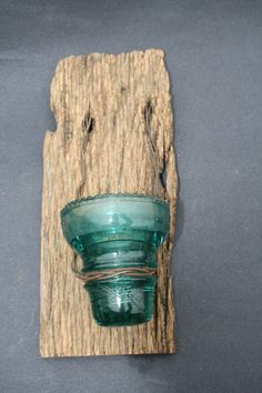 Barn Wood Recycled Candle Sconces with Blue by timelessjourney, $15.00