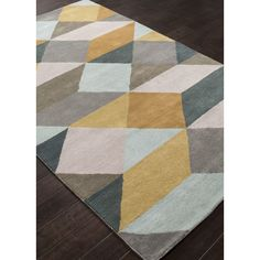 Jaipur Rugs En Casa Gray & Yellow Geometric Area Rug