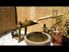 fountains fountains make your garden more beautiful Bamboo Water Fountain, Diy Fountain, Water Features In The Garden, Garden Features, Japanese Water Feature, Japanese Garden Design, Japanese Gardens, Small Courtyard Gardens, Beautiful Gardens