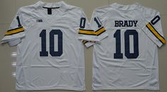 Jordan Brand Michigan Wolverines Tom Brady 10 College Football L 7c1385230