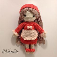 Crochet doll made by kikalite, pattern by Kessedjian