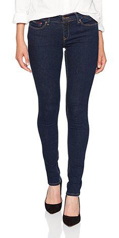 newest e6fa5 cfac5 Hilfiger Denim Women s Mid Rise Nora Skrbst Skinny Jeans, Blue (Skate Rinse  Blue Stretch