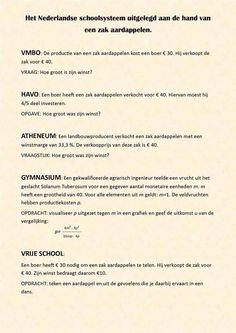 Focus op Antroposofie | Nederlands schoolsysteem uitgelegd aan de hand van een zak aardappelen