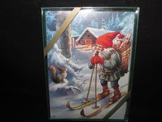 Pictura Christmas Cards Lars Carlsson Signed Boxed Set Of 15 Cards Santa Sweden #Pictura #Christmas