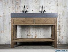 Badkamermeubel oud hout wastafelmeubel steen grote voorraad