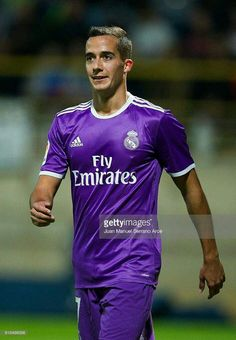 Lucas Vazquez of Real Madrid reacts during the Copa del Rey Round of 32 match between Cultural Leonesa and Real Madrid CF at Reino de Leon Stadium on October 2016 in Leon, Spain. First Football, Football Love, Lucas Vazquez, Real Madrid Players, Football Players, Sports, Mens Tops, Europe, Snacks