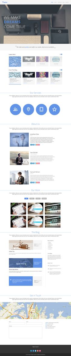 Well this freebie is a big one! A complete and sweet HTML template that makes a great choice for a personal or business...