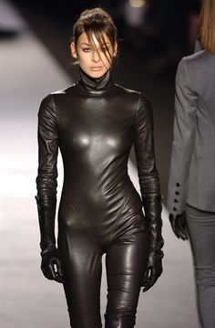 Daniela Lopes for Costume National at Paris Fashion Week Fall 2003