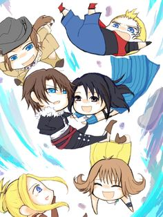 Chibi Time Compression Final Fantasy Art, Fantasy Series, Video Game Addiction, Anime Toon, Just Video, Disney And Dreamworks, S Pic, Cartoon Drawings, Manga Art