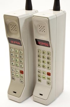 "Lol the ""Brick"" cell phone circa 1980's if you attacked this would make a fine weapon....  ;-)"
