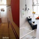 Antes y despues Peluqueria en Barcelona proyecto designers in-home decorador de interiores y diseño low cost DIHWEB.COM Proyecto diseño interior online por 99€