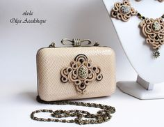 "collection ""Savannah"" clutches, necklaces, earrings ""Sands savanna"" soutache, genuine Italian leather, natures. Stone - leopard jasper, glass beads, Japanese beads, metal. suspension"