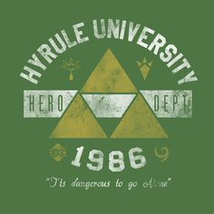 Hyrule University T-Shirt $12 Legend of Zelda tee at Once Upon a Tee!