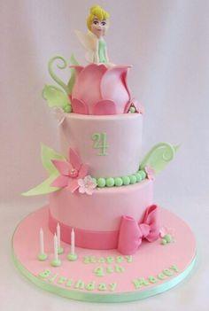 Tinkerbell Birthday Cakes, Fairy Birthday Cake, Birthday Cake Girls, Tinkerbell Party, Cupcakes, Cupcake Cakes, Garden Cakes, Fairy Cakes, Disney Cakes