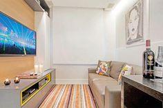 spaço pequeno não é desculpa para espaço mais aproveitado. Olha que lindo essa sala com menos de 10 metros quadrados.