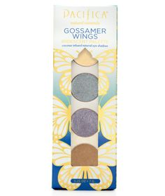 Pacifica Gossamer Wings Palette is supernaturally rich, iridescent and long lasting creaseless eye shadows with a velvety, cream-like finish.  A Target Exclusive!