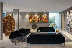 Gallery of Guaica Residence / Padovani Arquitetos Associados - 14 Interior Trim, Cafe Interior, Interior Design Tips, Luxury Interior, Interior Design Living Room, Living Room Designs, Living Spaces, Interior Decorating, Decorating Games