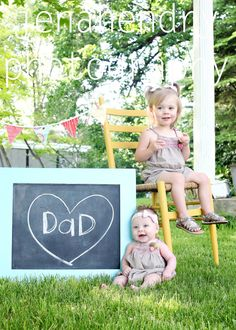 Next year's Father's Day gift! This year, I used block letters that the kids held up & I placed thebpicsbin a 3 squarebmatted frame.