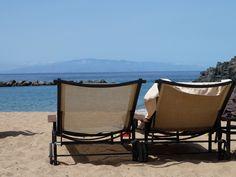 Una playa con vistas