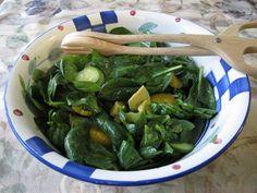 Spinach, Avocado and Orange Salad @ Fructose Free Me