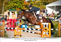 Leslie Howard wins $100,000 FEI World Cup Qualifier at Angelstone with broken ankle - Noelle Floyd