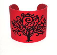 Red cuff bracelet Tree  Branches by Aylerville on Etsy, $15.00