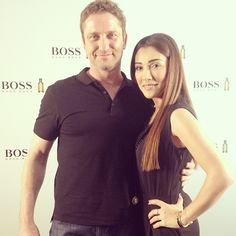 """""""He is AMAZING  and He asked my Mom to be her Son in Law  #GerardButler #exclusive #interview #dubaitv #manoftoday #bossbottled #hugoboss…"""""""