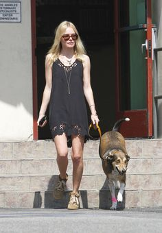 """While in Morocco filming """"The Girl in the Park,"""" Kate Bosworth found a dog living on the streets. So she brought Lila back home with her, and the two have been best buds since."""