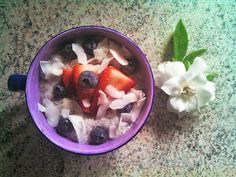 Coconut & chia pudding