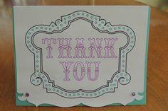 Cricut  - write and cut thank you card