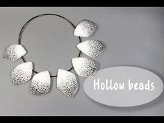 Hollow beads tutorial in Russian with english subtitles * Дутые бусины * Fimo - YouTube