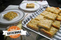 baked artichoke squares. i love artichokes!