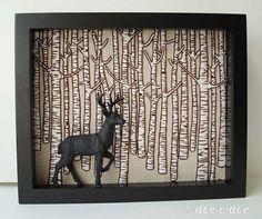 """motleycraft-o-rama: Birch Deer by Doe C Doe on Flickr"""