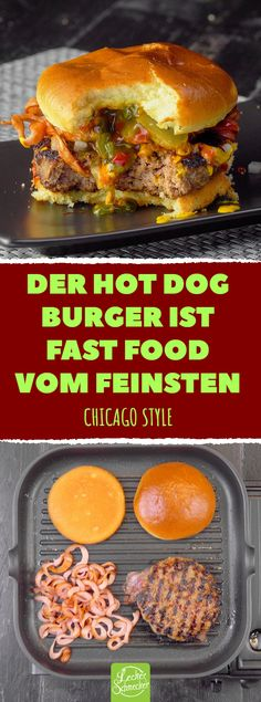 Take a straw and prick it in the middle of the sausage. That will be tasty! - The hot dog burger is fast food at its finest dog food - Dog Burger, Hot Dogs, Beste Burger, Chicken Recipes For Kids, Cooking Beets, How To Cook Asparagus, Food Tags, Sandwiches For Lunch, Easy Smoothie Recipes