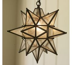 Olivia Star Pendant | Pottery Barn - I really really want one of these lights somewhere in our house