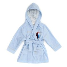 Bring Frozen fun to your little one's everyday essentials with this cotton bath robe! Featuring a stylised character appliqué, embroidered details, and sequin embellishments, it's sure to make bath times enchanting. Hello Kitty Birthday Cake, Anna Y Elsa, Frozen Merchandise, Kids Dress Wear, Frozen Dress, Bare Necessities, Disney Girls, Hooded Jacket, Girl Outfits