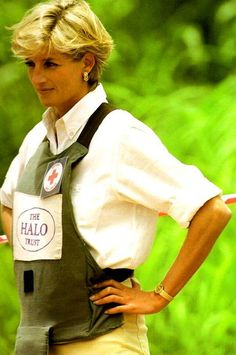 January 15, 1997: Diana, Princess of Wales tours a minefield dressed in a flak…