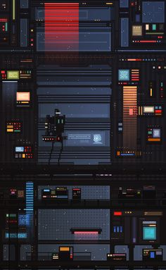 """Pixel Art by Waneella Valeriya """"Waneella"""" Sanchillo is a 22 years old designer and concept artist. Follow her on Tumblr. Is worth a visit also her non-pixel art blog. If you aren't following Cross Connect, you're missing out. posted by Margaret"""