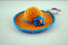 """This """"Tiny Hat Keyring"""" is so Cute!"""