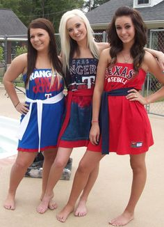 Texas Rangers Game Day Tee Shirt Dresses $55