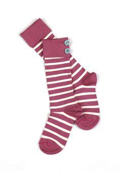 Matilda Jane Raspberry Striped Socks