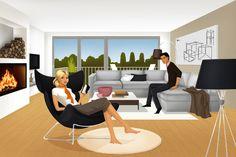 cozy home by Lilian Illustration #architecture #art #illustration #lifestyle #interior #design