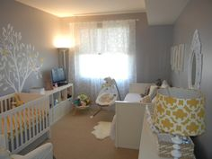 Gray and Yellow Girls Nursery | Project Nursery