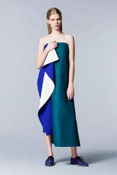 Roksanda Ilincic Pre-Fall 2014, strapless dress