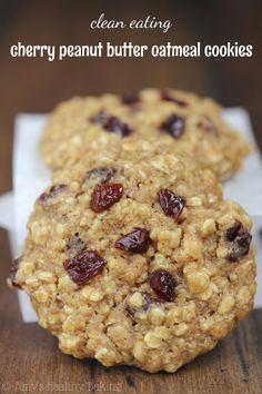 Cherry Peanut Butter Oatmeal Cookies