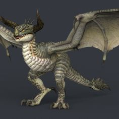 game ready monster dragon 3d model max obj fbx c4d ma mb mtl 1